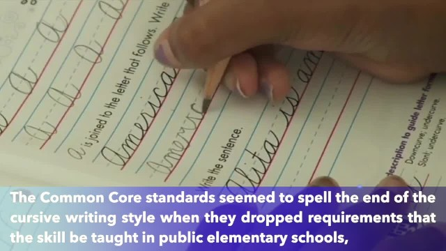 New Jersey lawmaker introduces bill to require students to learn cursive