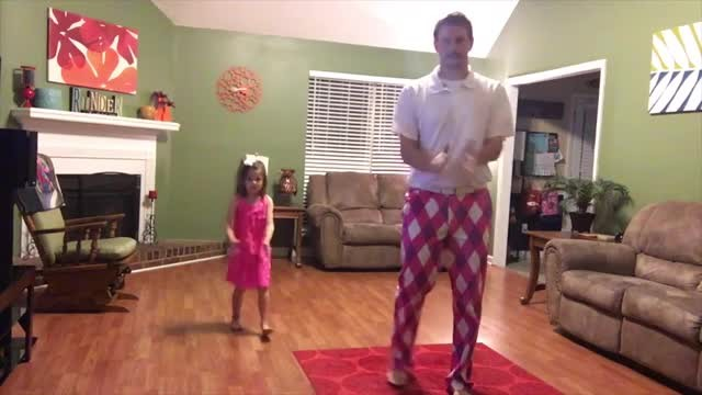 Mom's not home so dad and daughter turn on camera and record themselves dancing