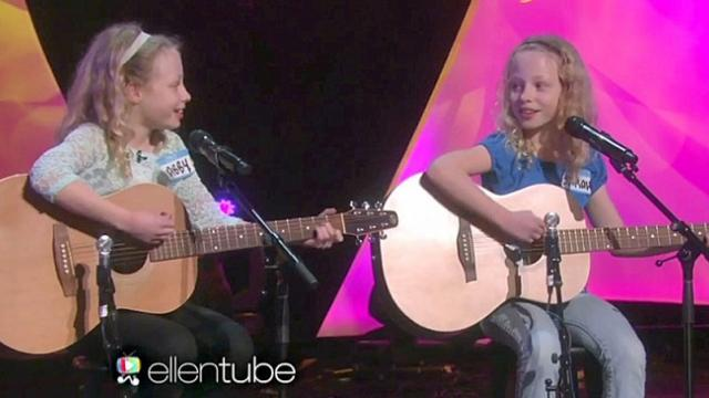These twins cracked Ellen up, but it was their singing that made everyone's jaw drop