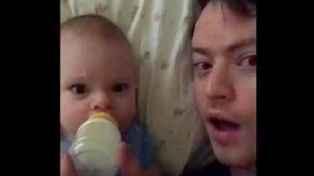 Dad's home alone with the baby - when mom receives this text, she burst into laughter