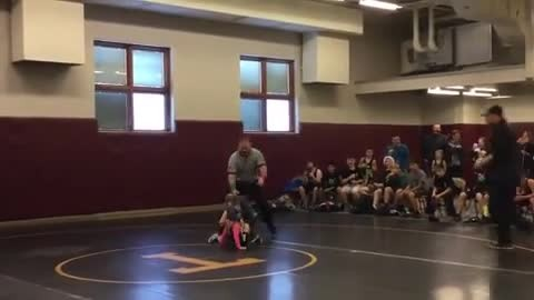 Little Brother Mistakes Sister's Wrestling Match For Fight And Takes Matters Into His Own Hands
