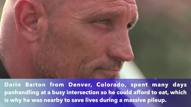 Homeless man gets epic thanks from community after saving lives in massive crash