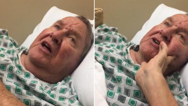 Grandpa with dementia can't remember her name, breaks down in tears when he starts to sing