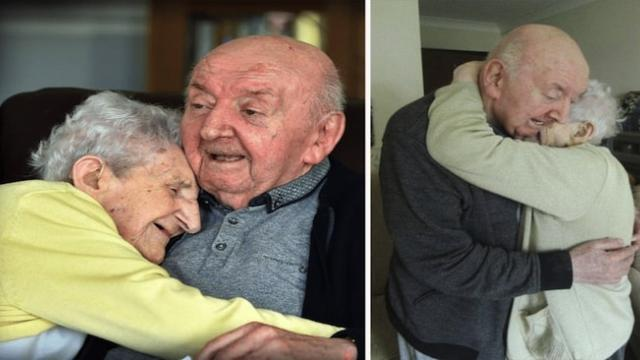 98-year-old mommy moves into senior care home to take care of her 80-year-old son