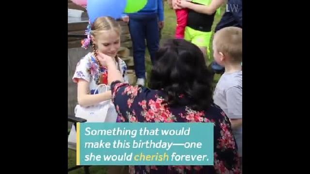 Birthday girl reads note on stepmom's gift & breaks down at life-changing news