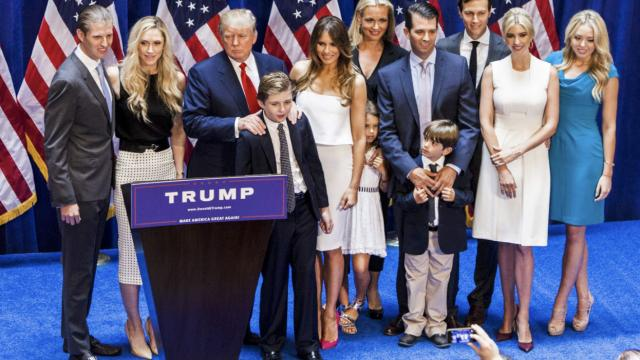 How did President Trump raise his children