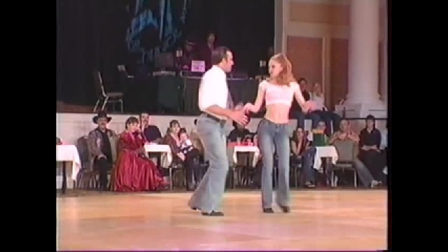 Swing dancers try Honky-Tonk and leave the crowd roaring