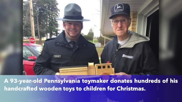 93-year-old toymaker makes hundreds of wooden toys to donate to children for Christmas