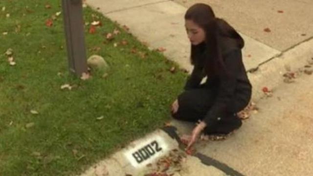 Police warn if you see your house number painted on the sidewalk,