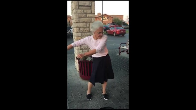 Grandma said she could dance like the kids and nobody believed her. Then the music started