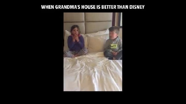 Trip To Grandma's Is Actually Surprise Trip To Disney, But Kids Don't Have The Reaction Mom Expected