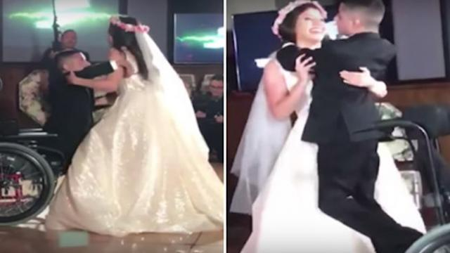 Bride dances with terminally ill brother in wheelchair at wedding, guests left in tears