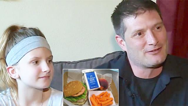 Dad who hears daughter's classmates are going without meals pays off every student's lunch debt
