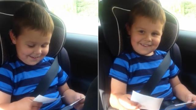 Viral video of kid's beautiful reaction to the news that he was to become a big brother warms our he