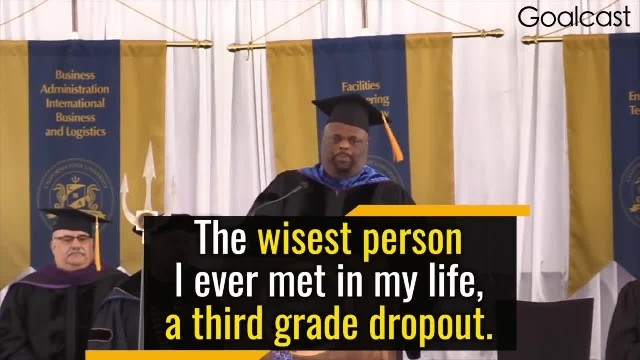 Man With 4 Degrees Addresses Graduating Class, Gives Advice Spoken By His 3rd-Grade Dropout Father