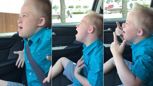 Dad films son with Down syndrome belting Whitney Houston, has no idea he's going to make headlines