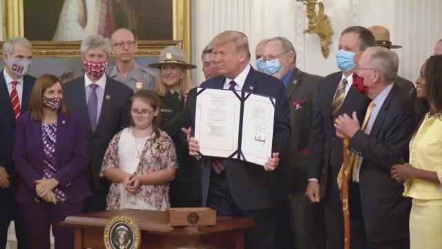 President Trump participates in a signing ceremony for H.R. 1957 - the great American outdoors act