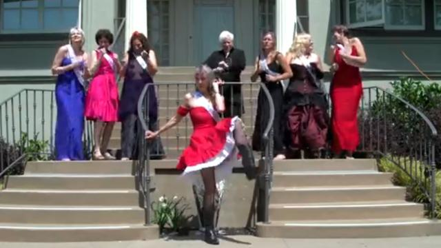 These elder ladies line up to sing and dance leaving everyone in tears of laughter
