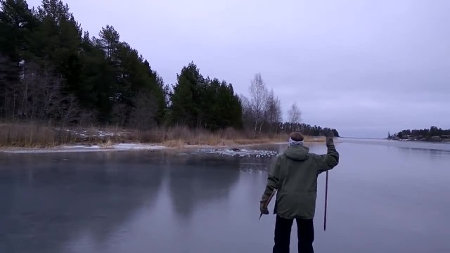 Stranded moose drowns in freezing ice - then an angel makes everything okay again