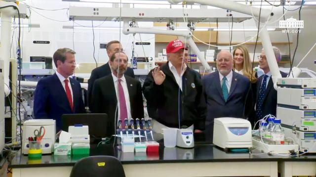 President Trump visits the centers for disease control and prevention