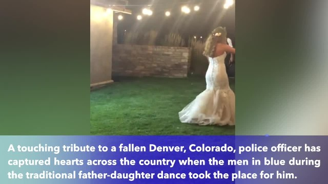 14 years after detective's fallen, brothers in blue surprise his daughter at her wedding