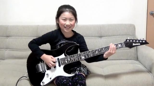 Watch out rockers! This cute girl has mad guitar skills that will put other musicians out of work!
