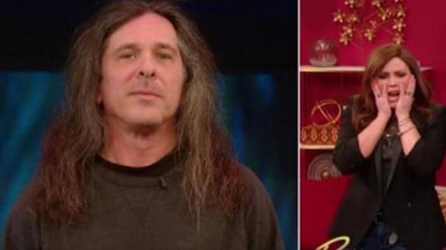 Man agrees to cut his hair. Afterwards, Rachael Ray's uncomfortable.