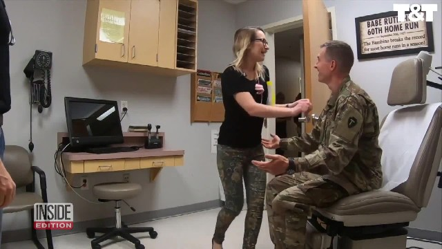 Doctor thinks soldier husband is deployed overseas only to discover he's her new patient