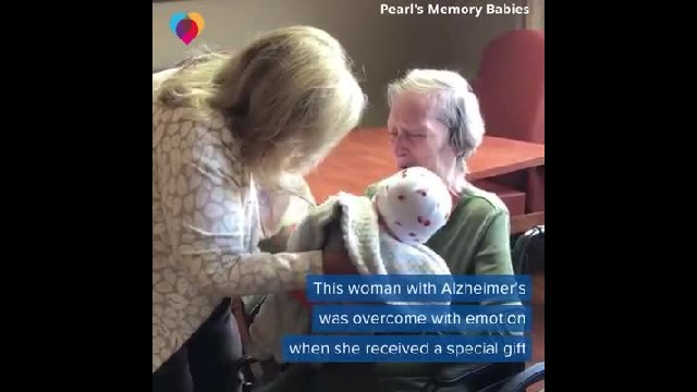 Alzheimer's Patient Is Handed Baby For Captured Footage So Overwhelming Internet Left Weeping