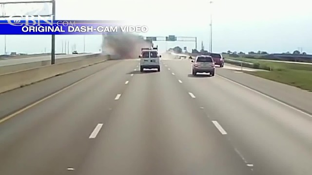 Brave trucker goes after horrific highway crash only to see his dash cam captured a 'miracle'