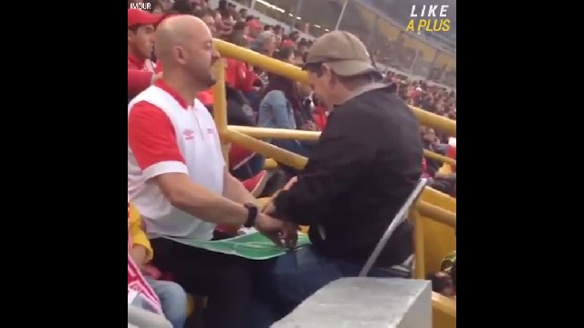 She's Confused When He Leads Blind Man Into Soccer Game, But What He Does Next Has Her In Tears