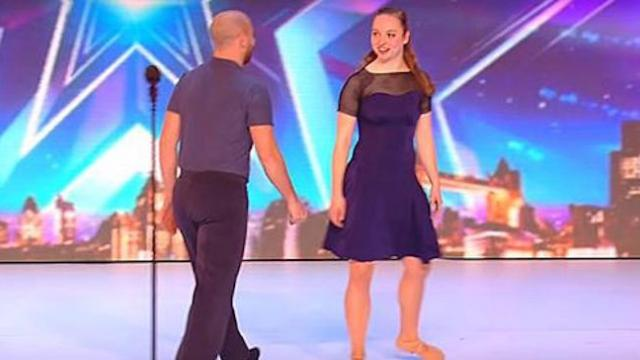 Incredible dance routine left the judges feeling blue