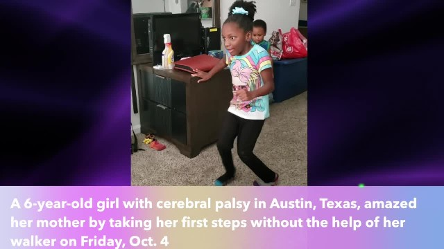 Texas mom celebrated as daughter with cerebral palsy walked unaided for the first time