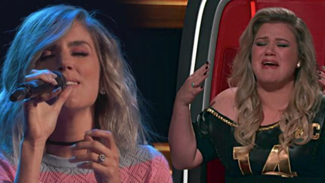 Kelly Clarkson starts sobbing when 'Voice' contestant sings her