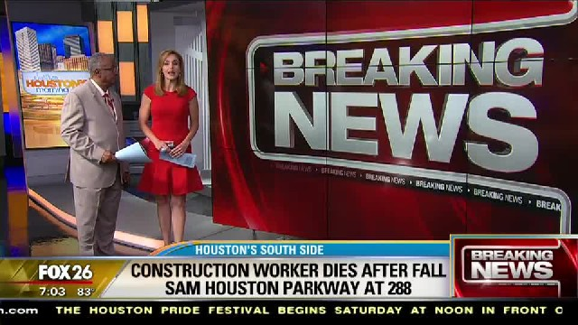 Construction worker dies after fall from overpass