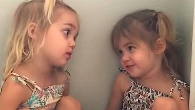 Twin tells sister she wants to be a teacher, 2yr old's hilarious