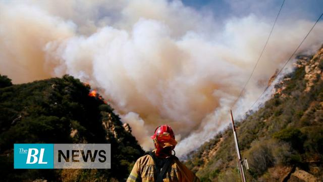California wildfire being battled from above and below