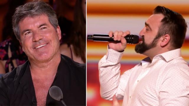 Judges cringe when he walks on stage until he sings and Simon is floored
