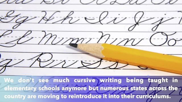 A Texas school is reintroducing cursive writing to elementary curriculum, starting in September