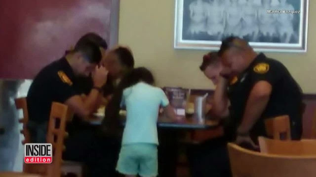 8yo girl amazes cops when she interrupts their meal to ask, 'May I pray for you?'