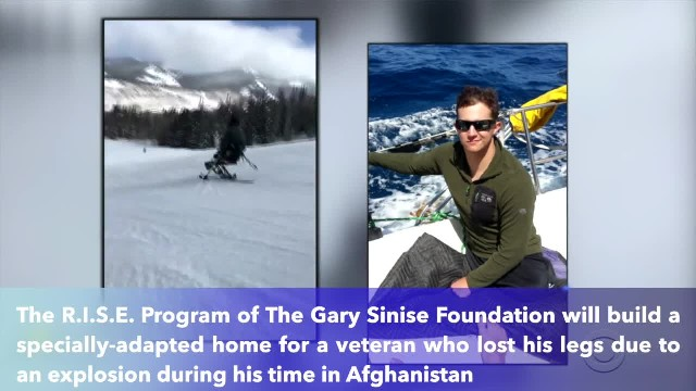 Gary Sinise gives veteran who lost both of his legs in Afghanistan a custom-built smart home