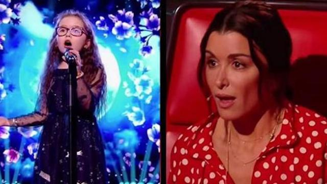 Nine-year-old belts out Celine Dion mega-hit with voice that leaves the room breathless