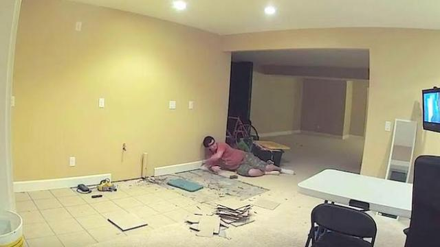 Husband builds a secret room in the basement, 20 days later he asks his wife to go downstairs
