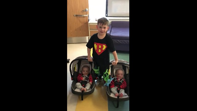 4-year-old little boy saves lives of 4-month-old twin brothers after insisting to donate bone marrow