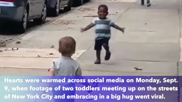 Video of toddler 'besties' running to hug each other in New York City goes viral