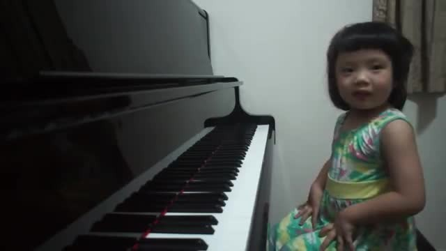 Adorable 3-Year-Old Giggles At Piano And Within Moments Blows Everyone Away With Her Talent