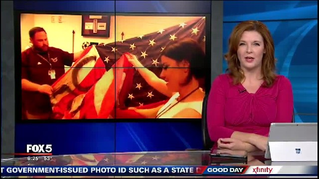 Veterans teach students a lesson after they vandalized a flag
