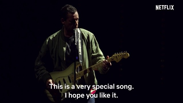 Watch Adam Sandler pay tribute to his friend Chris Farley with a touching song