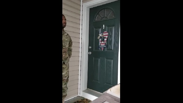 Heart-Melting Video Shows Active-Duty Dad Returning Home To Surprise His Son
