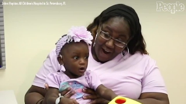 See the incredible moment a deaf toddler hears her mom say I love you for 1st time